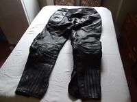 Belstaff Leather Motorcycle Trousers, size XXL