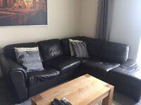 Smart corner leather sofa