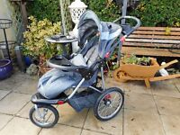 three wheel baby trend jogger buggy with rain cover