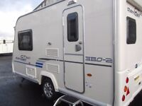 Perfect condition 2 berth Bailey Ranger GT60 380/2 touring caravan 2009