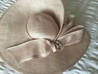 Beautiful blush pink John Charles special occasion hat