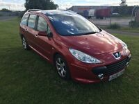 55 REG PEUGEOT 307 SW 2.0 HDi SE 5DR-GREAT MPG-LONG MOT-GREAT CAR LOOKS AND DRIVES WELL