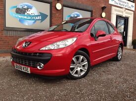 PEUGEOT 207 1.6 HDi Sport 3dr (red) 2008