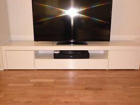 White high gloss modern TV unit/stand NEW
