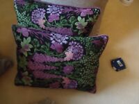 TWO LOVELY PURPLE CUSHIONS