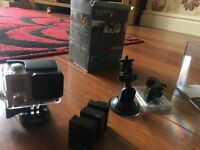 Go pro hero3+ silver with batteries and accessories