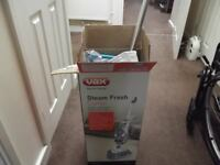 A nearly brand new VAX steam combi mop only used twice but an Excellent steam mop carpet freshner