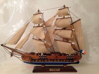 Antique Handcrafted Model Ship (Ouragan)