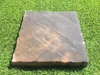 450x450mm Heritage Paving Slabs Brown/Grey