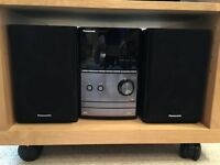 Panasonic CD Micro Hi Fi system for sale with universal dock for iPhone