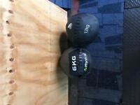 6kh and 12 kg crossfit wall balls
