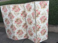 Vintage Floral 4 Screen Room Divider Size L 8ft x H 6ft Free Local Delivery.