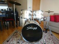 Stagg Tim full Drum Kit with Stool and pair of sticks