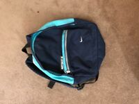 Nike blue and navy mini backpack