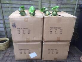 Job lot cute frog ornaments suitable for indoors out door use