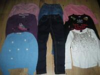 Bundle of girl clothes age 8-9 year x8 pieces (inc Emma Button,Fatface,M&S and another.