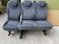 3 van seats for the rear in grey, removable and in good condition