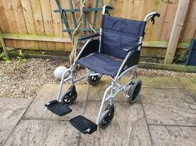 Very Lightweight Aluminium Wheelchair - Handlebar Brakes - Days Swift Wheel chair