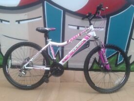 Cosmetic Damage - NEW BOSS PULSE White HT Ladies Disk Mountain Bike - RRP £275