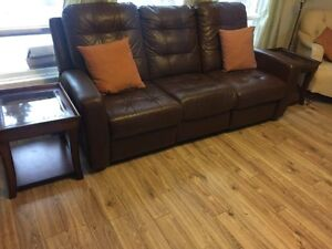 Lazyboy style sofa and ottoman for sale