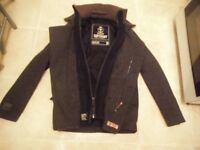 SUPERDRY P COAT FORCES COAT, SIZE SMALL