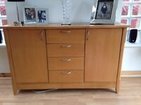 Sideboard - beech wood, as good as new with plenty of storage.