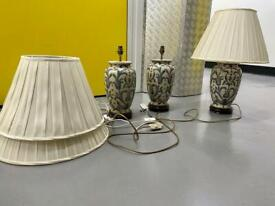3 Oriental style table lamps