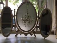 Louis Triple Dressing Table Mirror