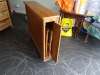 Compact Table and 2 Foldaway Chairs