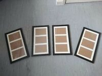 4 Picture Frames (To Fit 6x4 Size Photos)