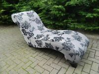 Modern Curved DFS Chaise Longue