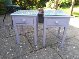 Bedside tables and/or matching cushions