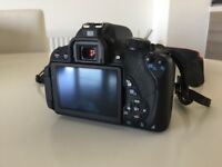 Canon 700D with 18-135mm lens