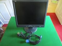 """Philips 17"""" Computer Monitor with Cables"""