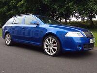 2008 SKODA OCTAVIA VRS 2.0 TDI 170 BHP ESTATE 6 SPEED MANUAL DRIVES SPOT ON LONG MOT