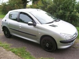 Peugeot 206 LOOK 1.4 Silver 2003 Year For Sale MOT October 2018 (no advisory) 207 307