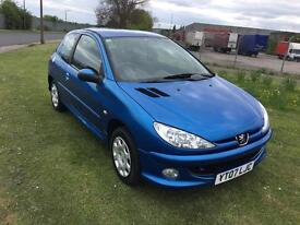 07 REG PEUGEOT 206 1.4 HDi LOOK 3DR-1 OWNER-HISTORY-LOW TAX-ECONOMICAL-2 KEYS-DRIVES GREAT