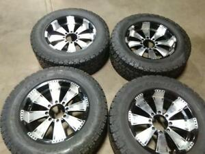 """20"""" (DODGE RAM ,GMC) ALL SEASON PACKAGEX4, 5-6X139 ALUMINUM RIMS WITH LT295/60R20 TOYO OPEN COUNTRY USED FOR SALE"""