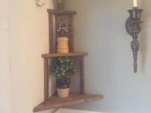Rustic corner shelf $25.00