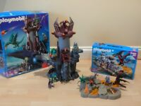 Playmobil 4836 Dragons Dungeon & 4006 Super Set Lair with extra pcs, boxes, VGC!