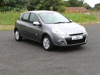 2010 RENAULT CLIO 1.2 I-MUSIC 16V 12 MONTHS M.O.T 6 MONTHS WARRANTY (FINANCE AVAILABLE)