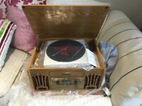 Radiogram style viny/record player, collectors edition
