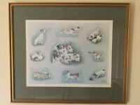 Louise Wood limited edition Jack Russell print
