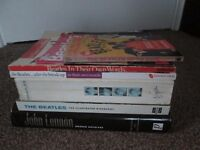 Collection of 7 The Beatles John Lennon Books Magazine Lot Memorabilia