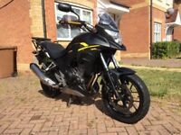 Honda CB500 X ABS 2016 - A2 compatible with full Honda fitted luggage set - only 5128 miles