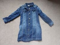 Next Denim Dress - Age 4 - never been worm