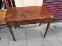 Wooden Console /Desk with drawer . In good condition . . Free Local Delivery