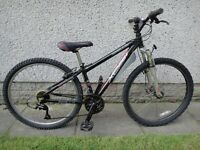 Apollo XC26 s, 26 inch wheels, 14 inch aluminium frame, 21 gears, front suspension