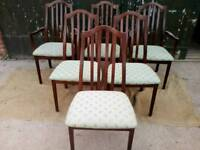 Six Matching Dining Chairs two carver armchaurs