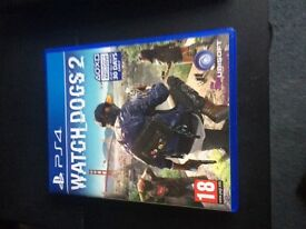 Watch Dogs 2 - PS4, practically brand new played once.